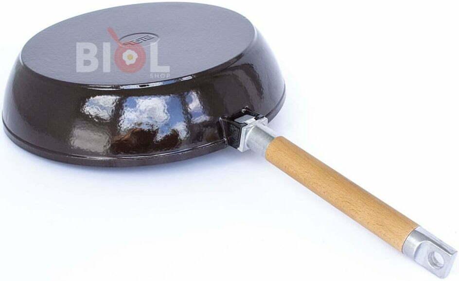 Сковорода 24 см Биол чугунная эмалированная 03247E купить в Киеве