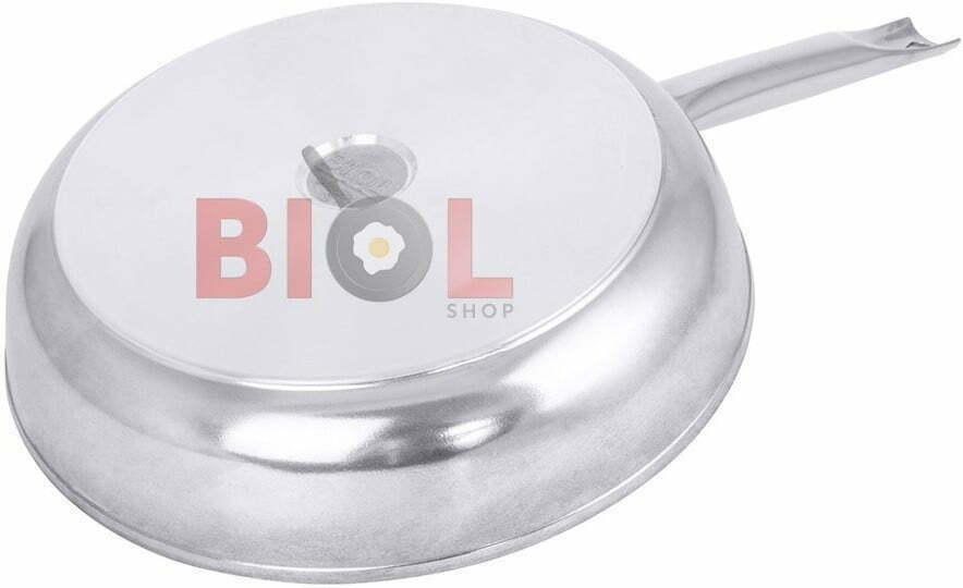 Сковорода антипригарная Profi со стеклянной крышкой Биол 24 см 2413НЛ лучшая цена в Украине