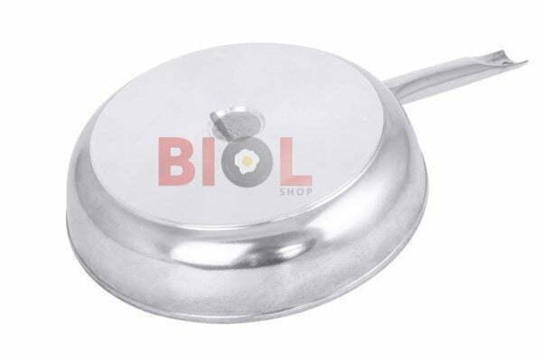 Сковорода антипригарная Profi со стеклянной крышкой Биол 26 см