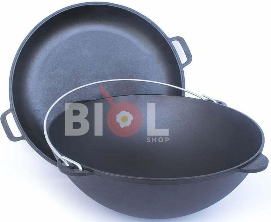Комплект татарский казан 12 л чугунный с треногой 0912К+ЧКТ12 купить на сайте Биолшоп