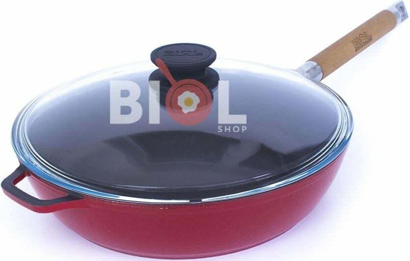 Сковорода Биол чугунная снаружи с эмалированным покрытием 24 см 03243ЕС купить недорого онлайн