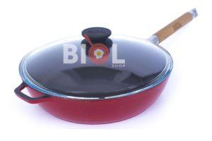 Сковорода Биол чугунная с внешним эмалированным покрытием 24 см заказать онлайн