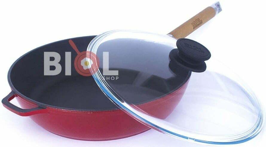 Сковорода Биол чугунная снаружи с эмалированным покрытием 24 см 03243ЕС доступная цена