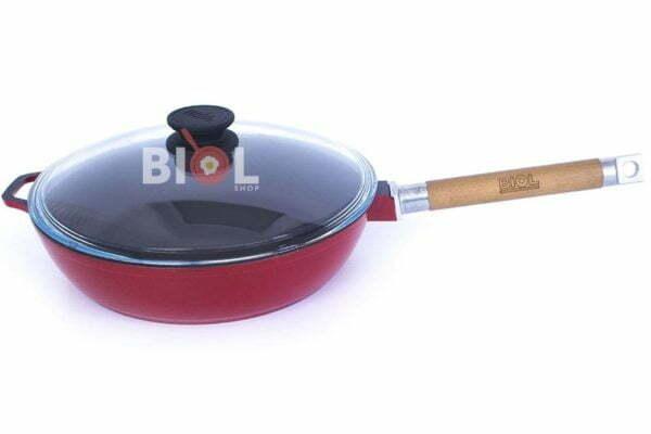 Сковорода Биол чугунная с внешним эмалированным покрытием 24 см заказать в Украине