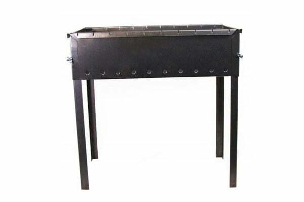 Мангал для шашлыков 10-местный черный Силумин МШ10