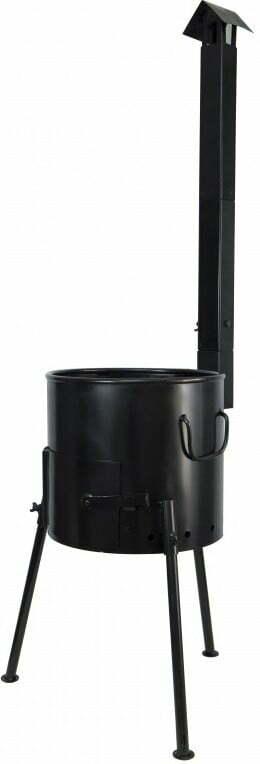 Печь под казан с дымоходом 300 мм Силумин ПЧК30тр купить недорого онлайн
