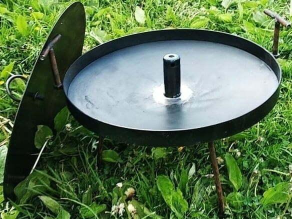 Сковорода для костра с отверстием 40 см фото