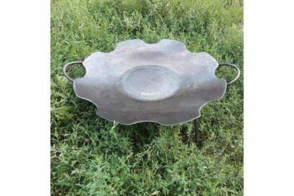 Стальная сковорода без бортов из диска 55 см Ромашка Shop Pan СК17
