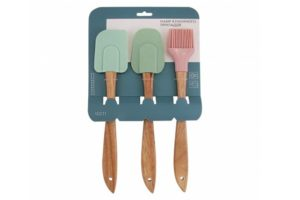 Набор кухонных принадлежностей Lessner Loft силикон с деревянной ручкой 10211