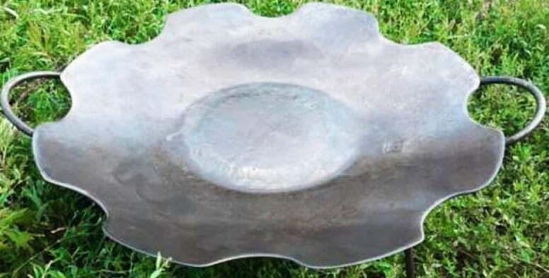 Сковорода без бортов из диска 55 см Ромашка купить недорого в Украине