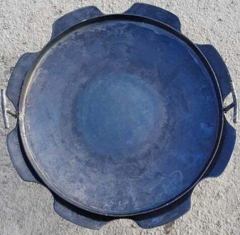 Стальная Стальная сковорода из диска с бортами Ромашка 50 см Shop Pan СК18 купить онлайн