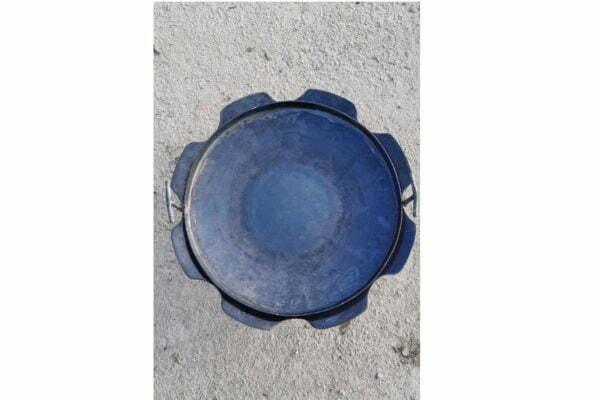 Стальная сковорода из диска с бортами Ромашка 50 см Shop Pan СК18 купить в Украине недорого