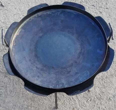 Стальная сковорода из диска с бортами Ромашка 50 см Shop Pan СК18 купить недорого в Киеве