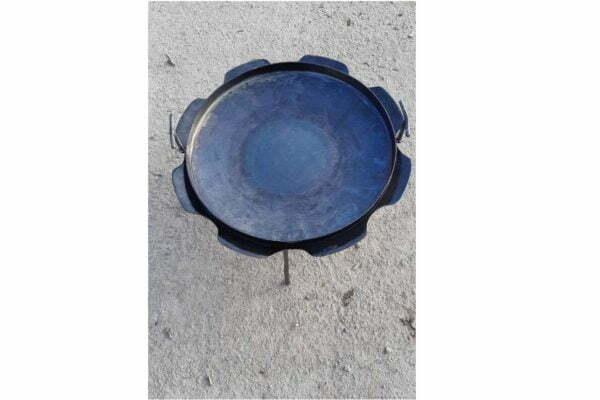 Стальная сковорода из диска с бортами Ромашка 50 см Shop Pan СК18 недорого купить онлайн