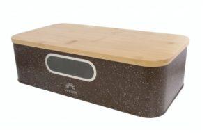 Металлическая хлебница с крышкой из бамбука 42,5x23x12,5 см Vincent VC-1235