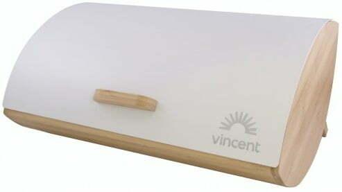 Хлебница бамбуковая с металлической крышкой 35x25x15,5 см Vincent VC-1233 купить недорого онлайн