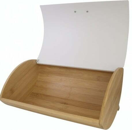 Хлебница бамбуковая с металлической крышкой 35x25x15,5 см Vincent VC-1233 доступная цена