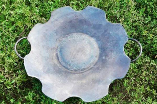 Сковорода стальная без бортов из диска 55 см Ромашка СК17