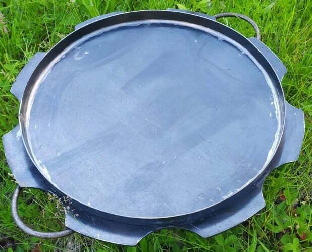 Стальная сковорода из диска с бортами Ромашка 50 см Shop Pan СК18 фото и отзывы