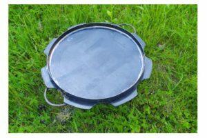 Стальная сковорода из диска с бортами Ромашка 50 см Shop Pan