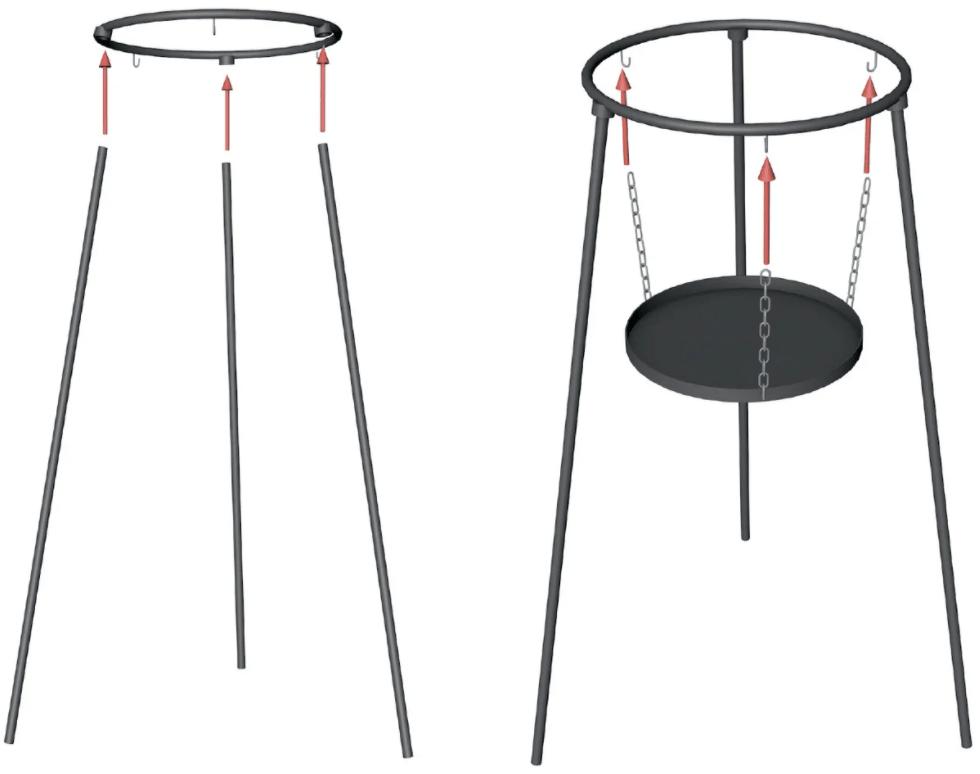 Подвеска для разведения огня Shop Pan с цельными ножками СК21 купить недорого онлайн
