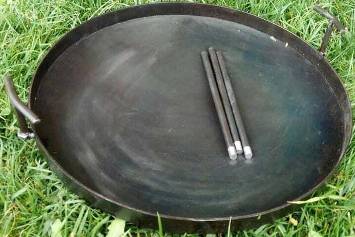 Сковорода из диска стальная 30 см Shop pan СК01 низкая цена