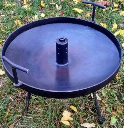 Сковорода для костра с отверстием 40 см купить на сайте Биол Шоп