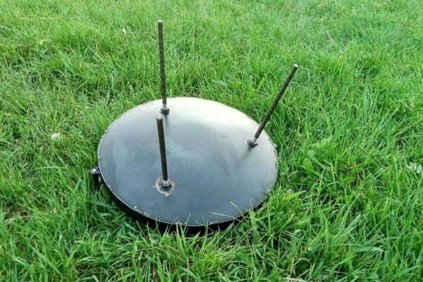 Сковорода из диска стальная 30 см Shop pan для костра заказать в Украине
