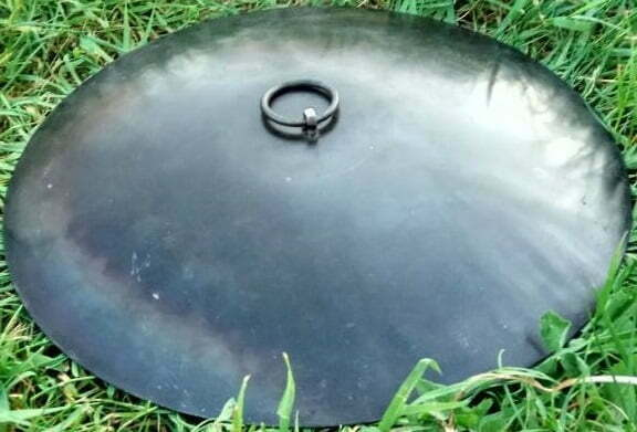 Сковорода с крышкой из диска бороны 30 см купить в Киеве