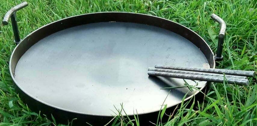 Сковорода из диска стальная 30 см Shop pan СК01 лучшая цена в Укриане