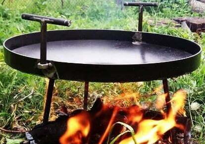 Сковорода из диска стальная 30 см Shop pan СК01 купить в Одессе