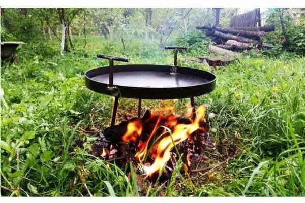 Сковорода из диска стальная 30 см Shop pan купить дешево