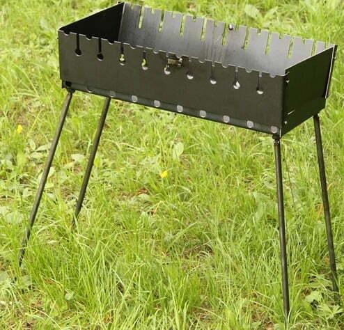 Мангал-чемодан Shop pan на 10 шампуров разборной МЧ10 фото