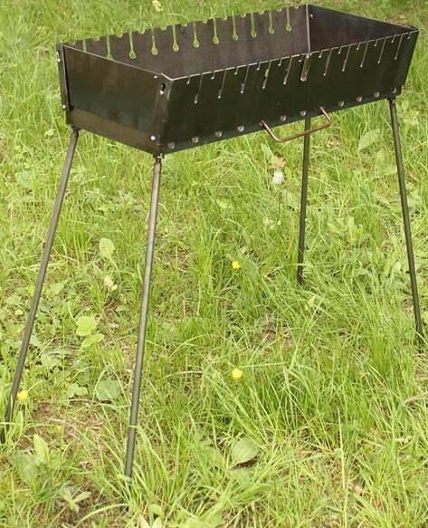 Мангал чемодан разборной на 12 шампуров Shop pan МЧ12 низкая цена