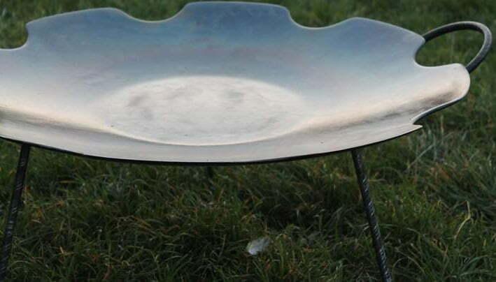 Сковорода стальная без бортов из диска 55 см Ромашка Shop Pan СК17 купить онлайн
