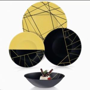 Столовый сервиз Luminarc из 24 предметов Delnice Gold купить недорого онлайн