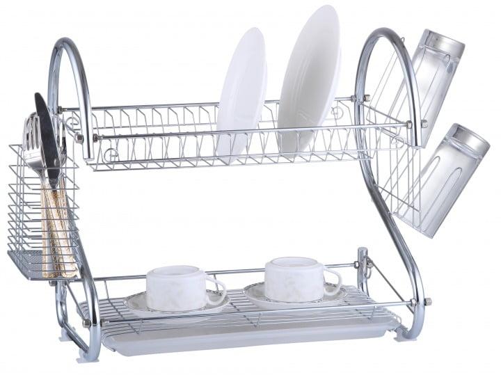 Сушилка для посуды металлическая с пластиковым поддоном Vincent VC-1010 купить в интернет магазине
