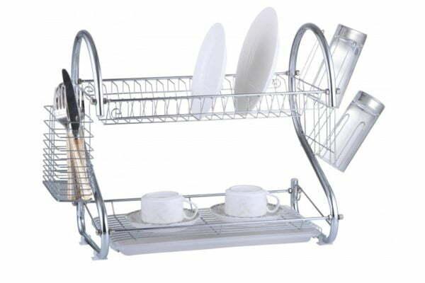 Сушилка для посуды металлическая с пластиковым поддоном Vincent VC-1010