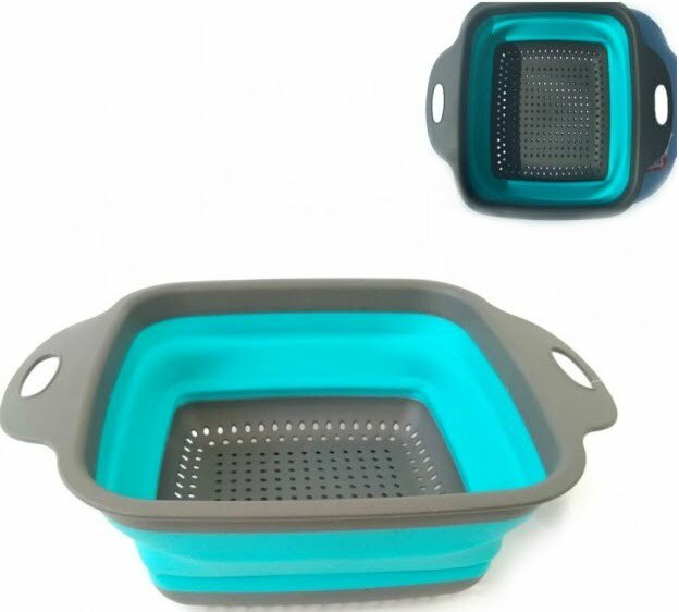 Дуршлаг Vincent складной пластик с силиконом 21,5х21,5х9 см VC-1404 купить недорого онлайн