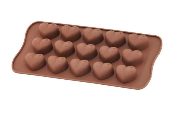 Силиконовая форма для шоколада Vincent сердце 20,5х10 см VC-1406