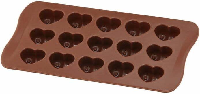 Силиконовая форма для шоколада Vincent сердце 20,5х10 см VC-1406 видео и фото