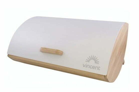 Хлебница бамбуковая с металлической крышкой 35x25x15,5 см