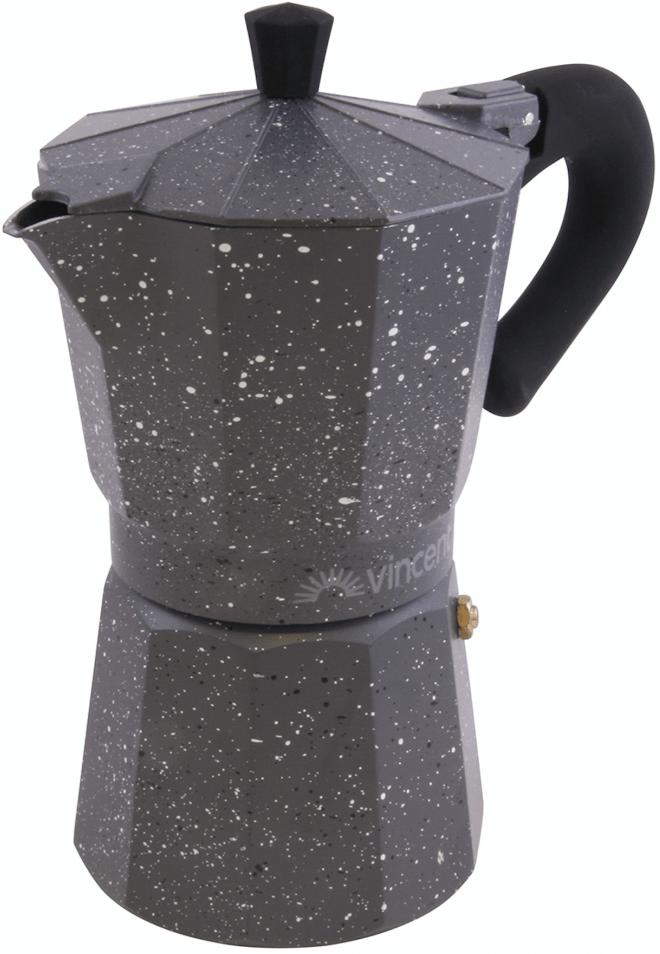 Кофеварка Vincent гейзерная 150 мл из алюминия VC-1369-300 купить недорого онлайн