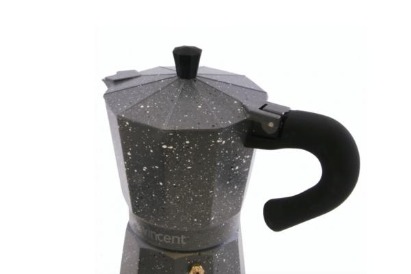 Кофеварка Vincent гейзерная 150 мл из алюминия