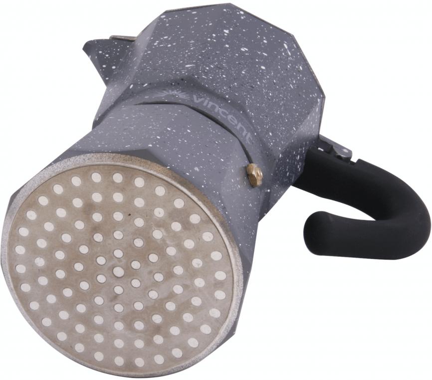 Кофеварка Vincent гейзерная 150 мл из алюминия VC-1369-300 быстрая доставка