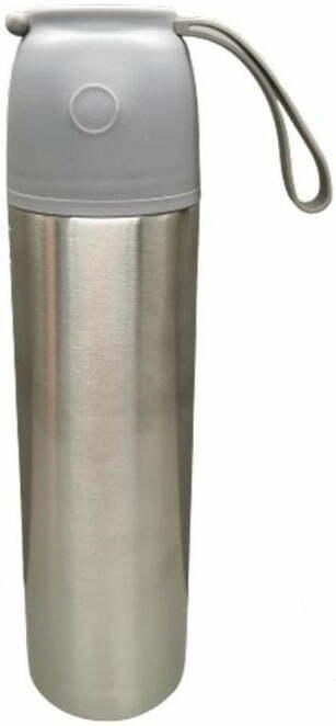 Термос 450 мл Lessner крышка с кнопкой City Gray 16643-045CG лучшая цена в Украине