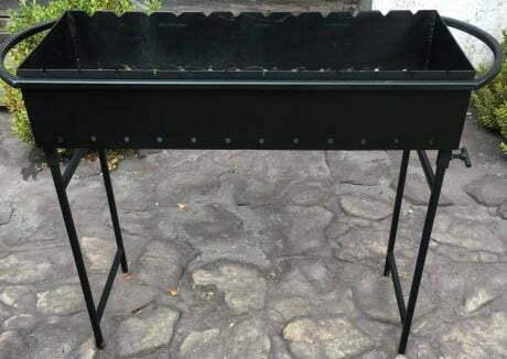 Мангал 12 шампуров со съемными ножками Металл-завод М12-3н купить в Харькове