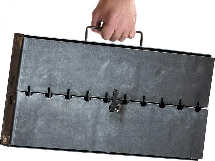 Мангал чемодан из стали Металл-завод MЧ2-10 доступная цена