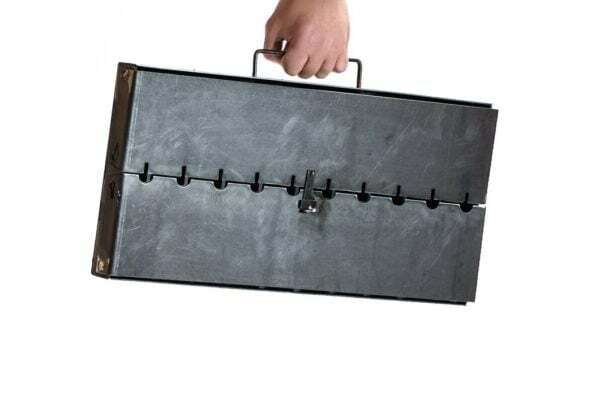 Мангал чемодан из стали MЧ2-10