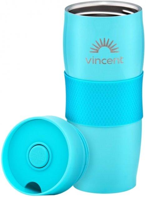 Кружка-термос 0,35 л нержавеющая сталь Vincent Electric Blue VC-1527EB отзывы